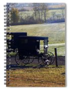 Autumn Amish Horse Buggy Spiral Notebook