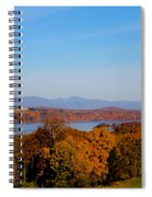Autumn And The Hudson River Spiral Notebook