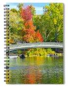 Autumn At Bow Bridge Central Park Spiral Notebook