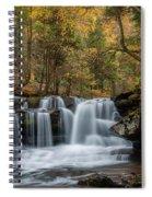Autumn At Dunloup Creek Falls Spiral Notebook