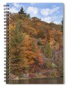 Autumn At Pink Lake Spiral Notebook