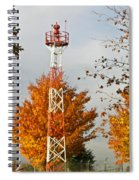 Autumn At The Airport Light Tower Spiral Notebook