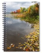 Autumn At The Lake In Nh Spiral Notebook