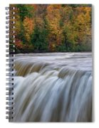 Autumn At The Middle Falls  Spiral Notebook