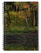 Autumn At Wrights Pond Spiral Notebook