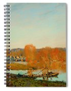 Autumn Banks Of The Seine Near Bougival Spiral Notebook