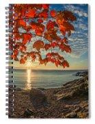 Autumn Bay Near Shovel Point Spiral Notebook