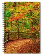 Autumn Bend - Allaire State Park Spiral Notebook