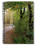 Autumn Bicycling Vertical One Spiral Notebook
