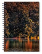 Autumn Boating At Argyle Lake Spiral Notebook