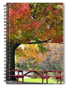 Autumn By The River On 105 Spiral Notebook