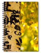 Autumn Carvings Spiral Notebook