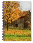Autumn Catskill Barn Spiral Notebook