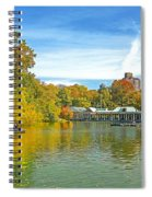 Autumn Central Park Lake And Boathouse Spiral Notebook
