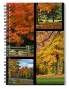 Autumn Collage Spiral Notebook