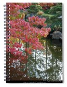 Autumn Color Poster Spiral Notebook