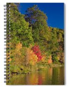Autumn Color Trees Along Beauty Lake Spiral Notebook