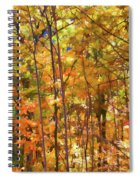 Autumn Colored Spiral Notebook
