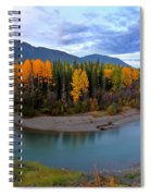 Autumn Colors Along Tanzilla River In Northern British Columbia Spiral Notebook
