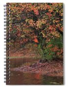 Autumn Colors By The Pond Spiral Notebook