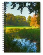 Autumn Colors In A Park Spiral Notebook