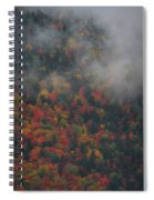 Autumn Colors In The Clouds Spiral Notebook