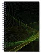 Autumn Computer Graphic Line Pattern Spiral Notebook