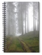 Autumn Coniferous Forest In The Morning Mist Spiral Notebook