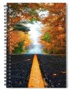 Autumn Drive Spiral Notebook