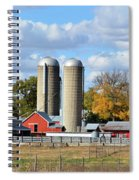 Autumn Elk Farm Spiral Notebook