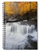 Autumn Falling Square Spiral Notebook