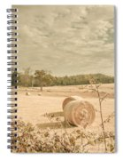 Autumn Farming And Agriculture Landscape Spiral Notebook