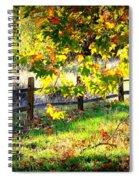 Autumn Fence Spiral Notebook