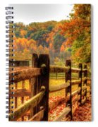 Autumn Fence Posts Scenic Spiral Notebook