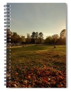 Autumn Field With Sheep Spiral Notebook