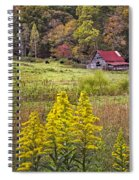 Autumn Fields Spiral Notebook