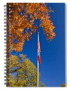 Autumn Flag Spiral Notebook