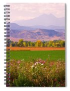 Autumn Flowers At Harvest Time Spiral Notebook
