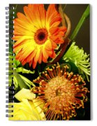 Autumn Flower Arrangement Spiral Notebook