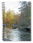 Autumn Flows Toward Winter Spiral Notebook