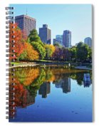 Autumn Foliage On The Boston Common Frog Pond Spiral Notebook