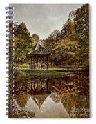 Autumn Gazebo Reflection Spiral Notebook