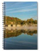 Autumn Glow Lake Springfield Spiral Notebook