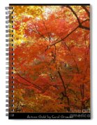 Autumn Gold Poster Spiral Notebook