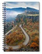 Autumn Hairpin Turn Spiral Notebook