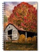 Autumn Hay Barn Spiral Notebook