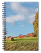 Autumn Hay Square Spiral Notebook