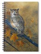 Autumn Highlights - Great Horned Owl Spiral Notebook