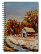 Autumn House By The Stream Spiral Notebook