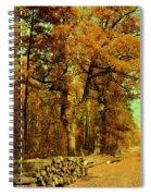 Autumn In Forest Spiral Notebook